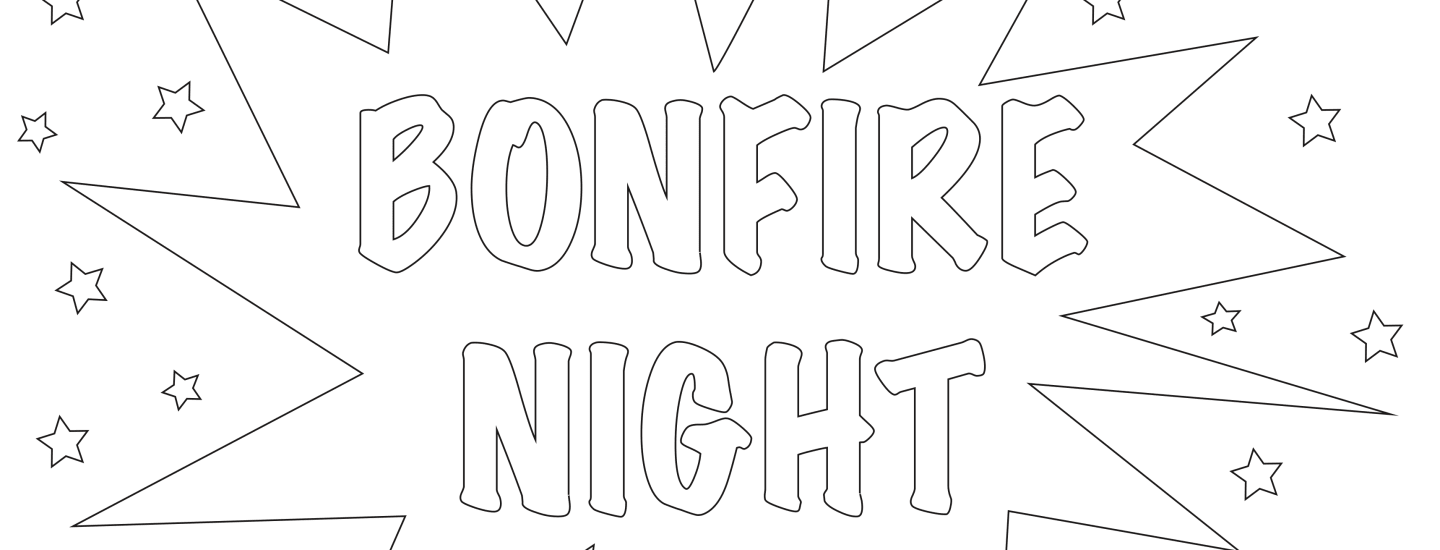 Bonfire Night Colouring - English