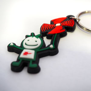 Children's Wales Air Ambulance Flexible Keyring