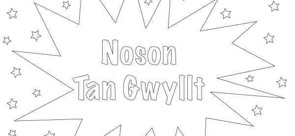 Bonfire Night Colouring - Cymraeg