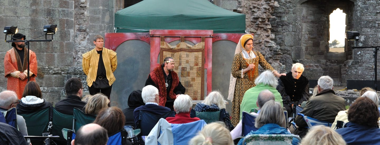 SHAKESPEARE AT SUNDOWN IN RAGLAN CASTLE IN AID OF WALES AIR AMBULANCE