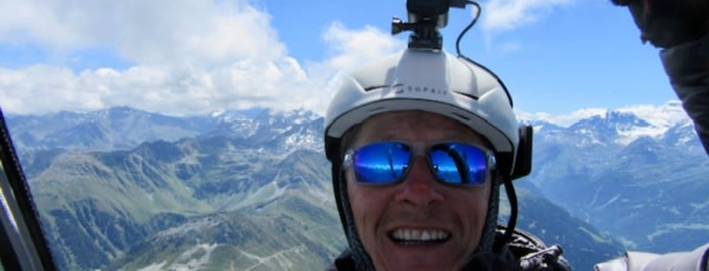 Chris Completes Charity Paraglide Across French Alps