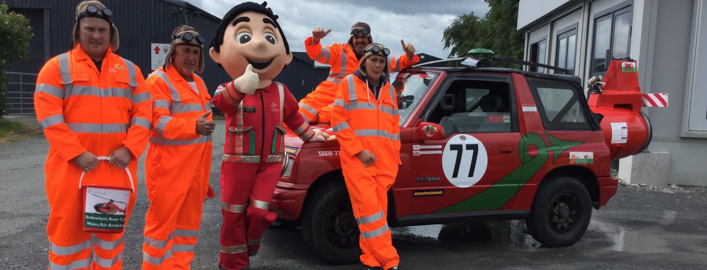 TEAM SET OFF DRIVING FROM BRITAIN TO BENIDORM IN AID OF WAA