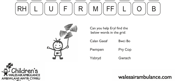 Halloween Word Search - Cymraeg