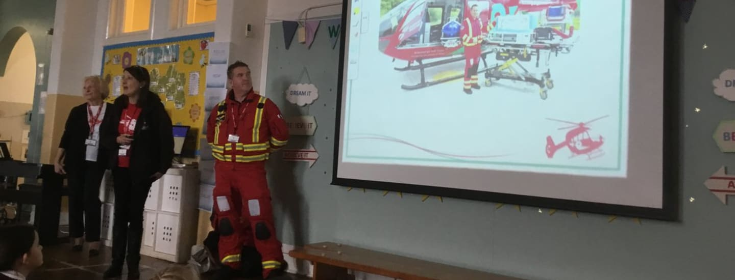EDUCATING YOUNGSTERS ACROSS THE VALE WITH WALES AIR AMBULANCE