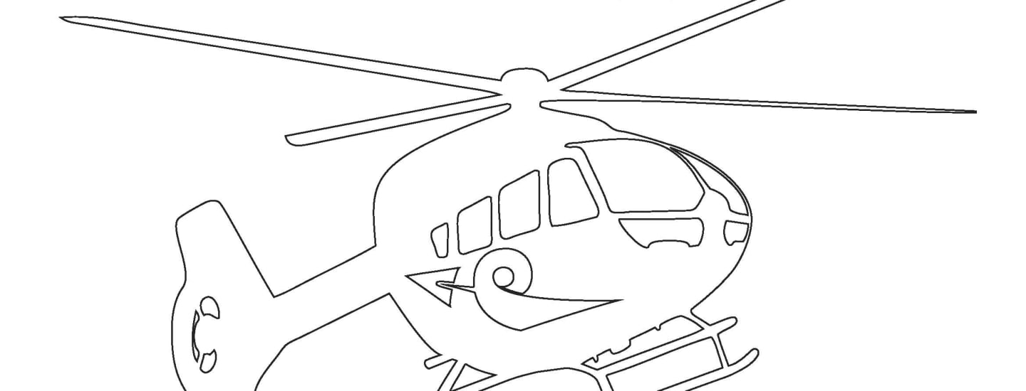 Helicopter Colouring