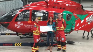 LIFESAVING FUNDS RAISED BY THE LOWFIELD INN