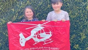 Siblings raised £600 by Walking 20 Miles for Lifesaving Helicopter Charity