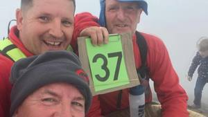 HISTORY MADE ON SNOWDON IN AID OF WALES AIR AMBULANCE